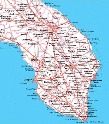 Lecce Puglia Cartina.Cartina Del Salento Mappa Del Salento Il Sito Web Per Le Tue Vacanze Nel Salento Lecceweb It