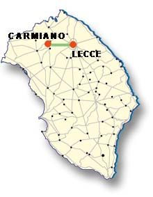 Cartina di Carmiano