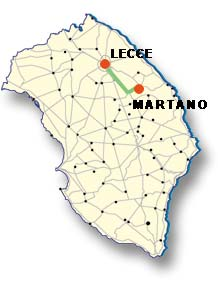 Cartina di Martano