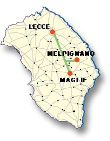 Cartina di Melpignano