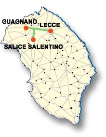 Cartina di Salice Salentino