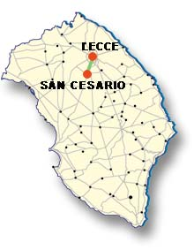 Cartina di San Cesario